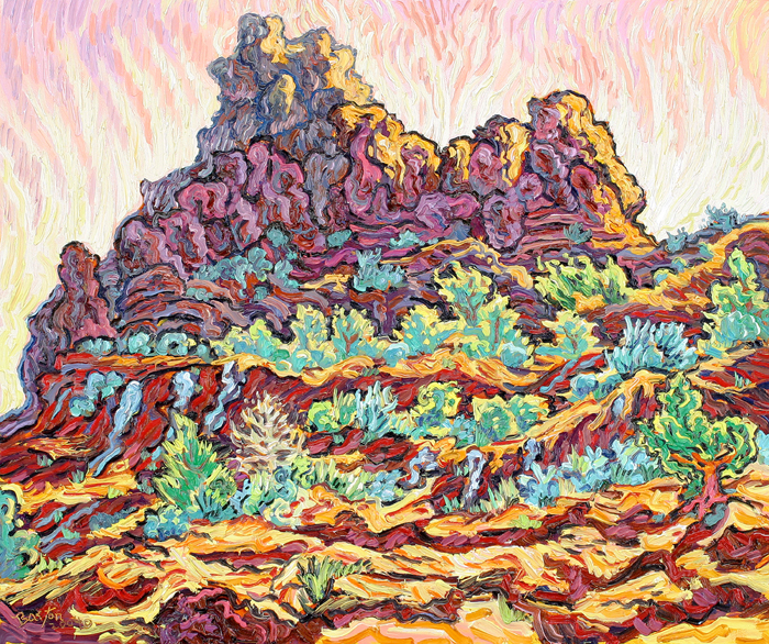 "Purple mountain, 24"" x 30"""