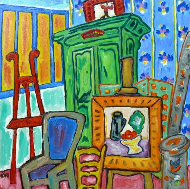 Atelier de Suzanne Valadon à Montmartre, 39x39