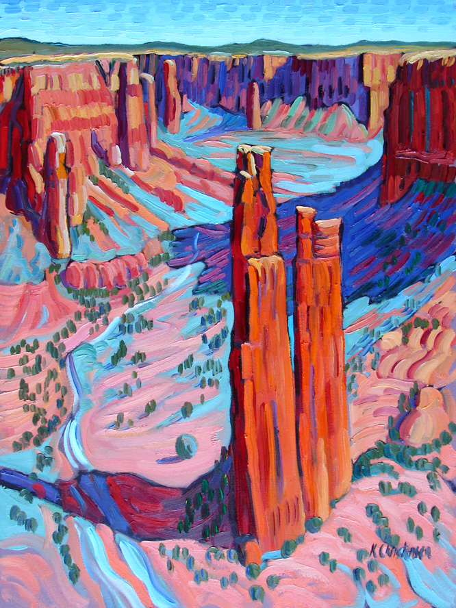 Canyon de Chelly, oil, 40x30