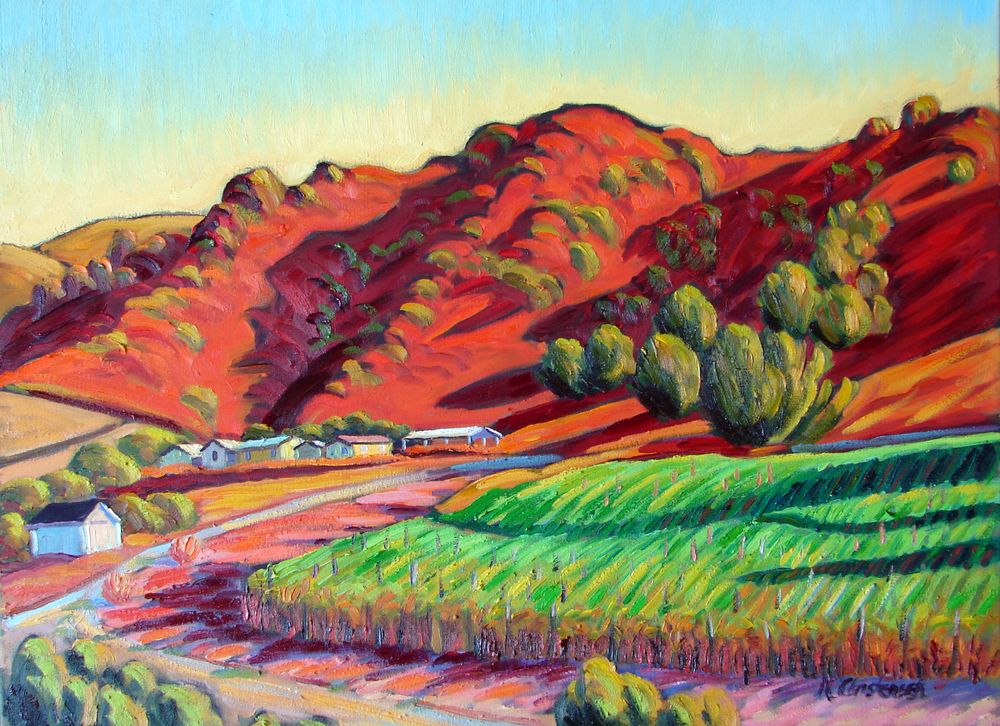 Red Hills at Sunset, 30x40