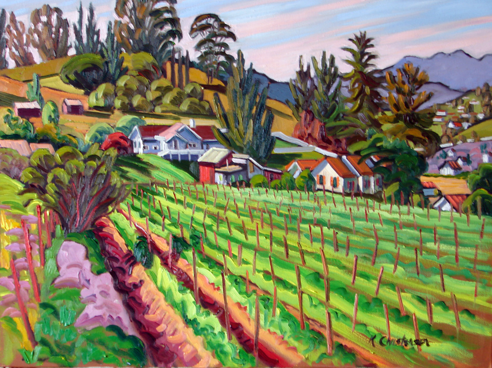Springtime Ranch, oil, 30x40
