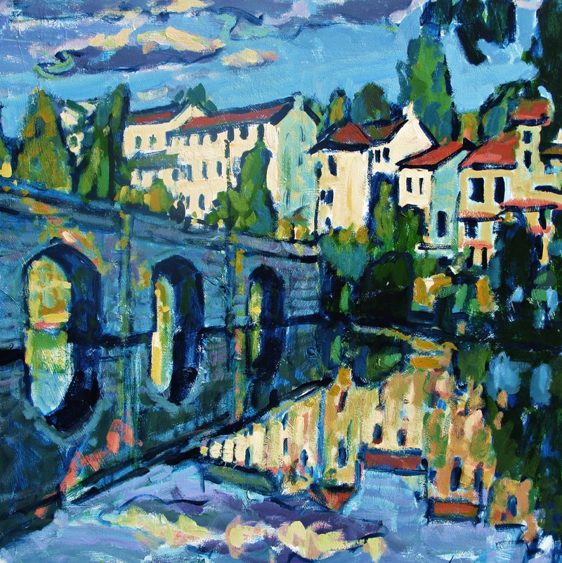 Bridge, acrylic