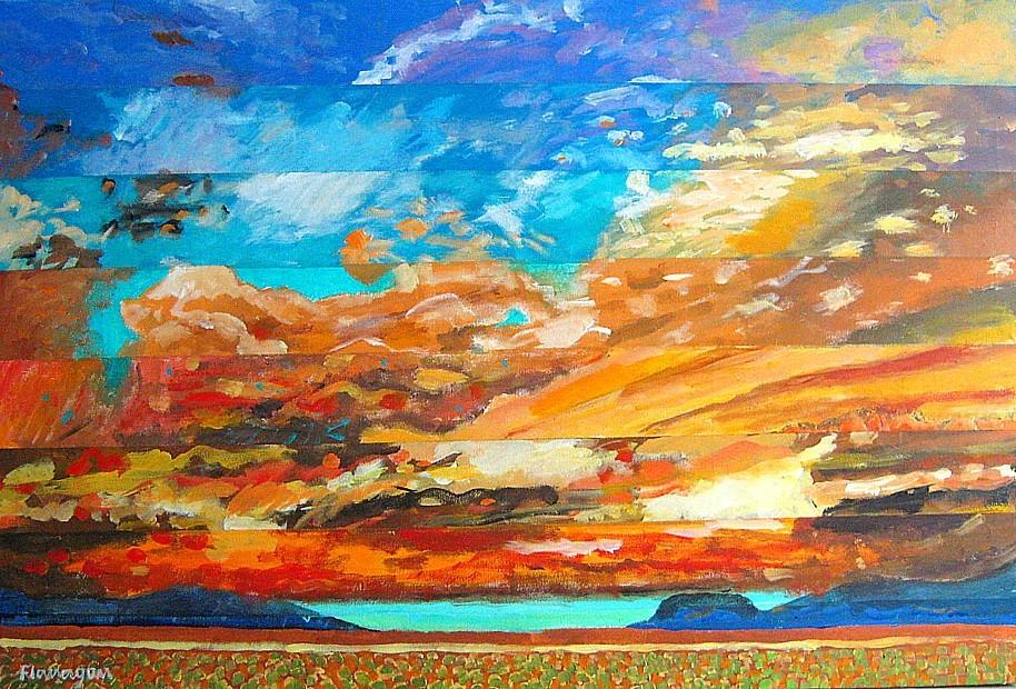 """CIELO DE ORO  Acrylic/Canvas  36"""" x 24"""""""