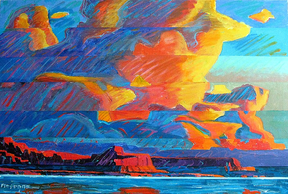 "BIG SKY Acrylic/Canvas  36"" x 24"""