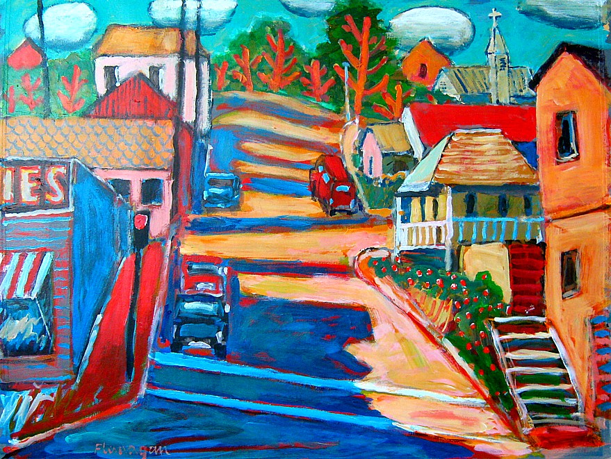 "NORTH OF STOCKTON  Acrylic/Canvas  30"" x 24"""