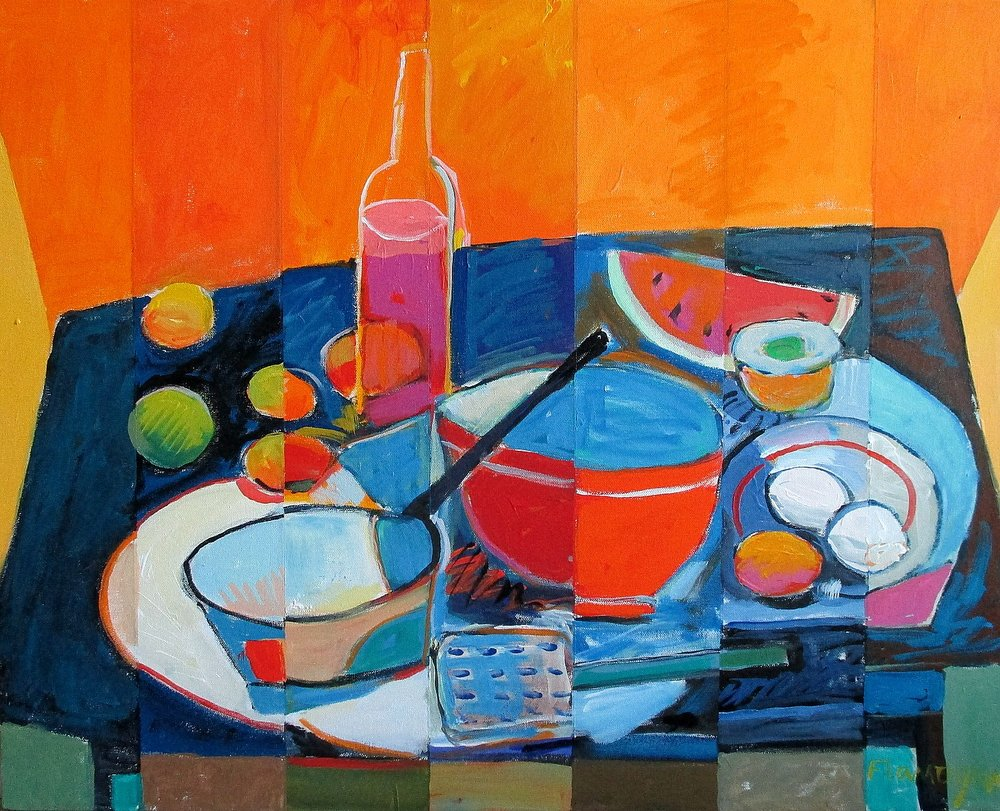"KITCHEN STUFF  Acrylic/Canvas  30"" x 24"""