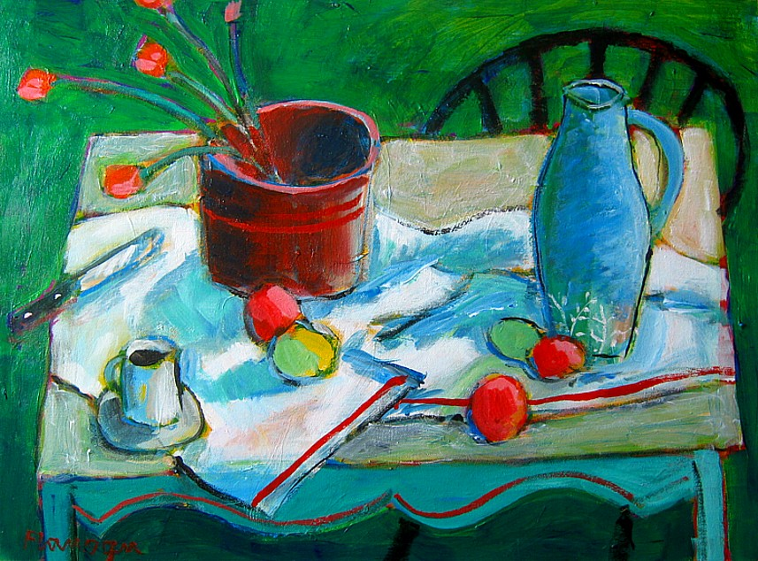 "PEINTURE VERT  Acrylic/Canvas  30"" x 24"""