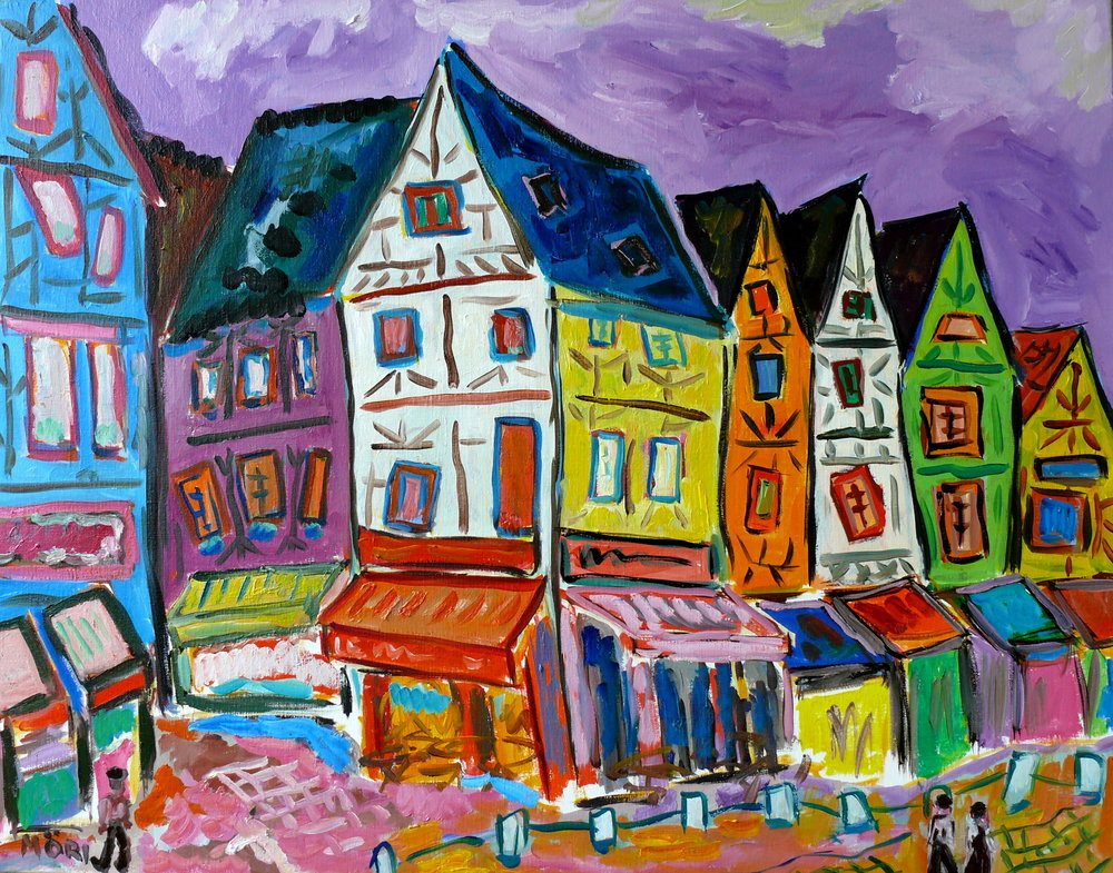 Bourges, place Gordaine  36x28