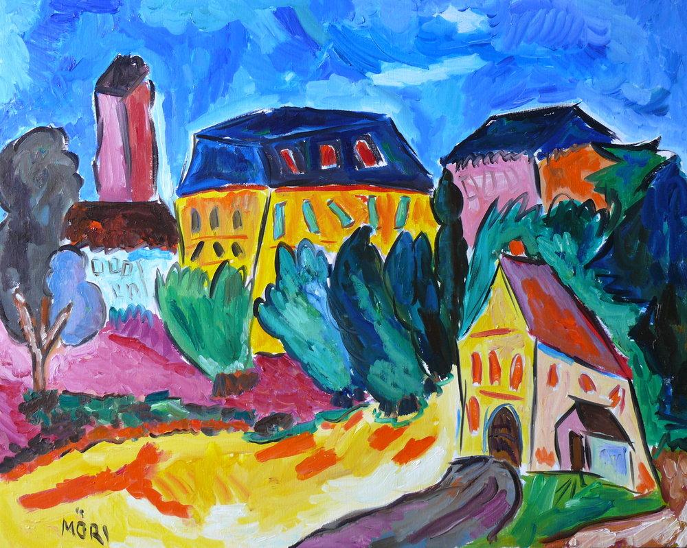Village en Suisse 36x28