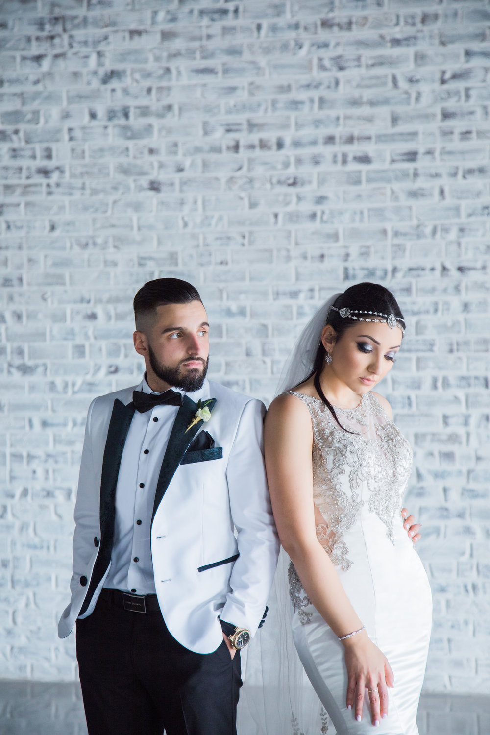 Wedding Bride Groom Gown Tuxedo