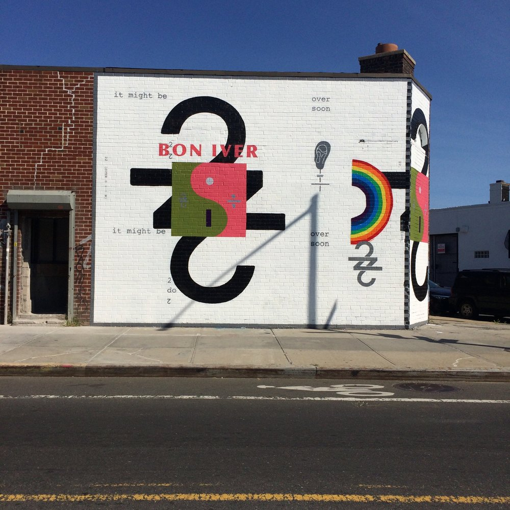 Brooklyn murals that build anticipation for the new album to fever pitch