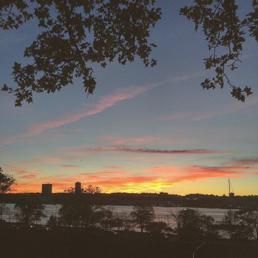 Sunsets over the Hudson River. I stayed a block away from here on the upper west side with some dear friends.