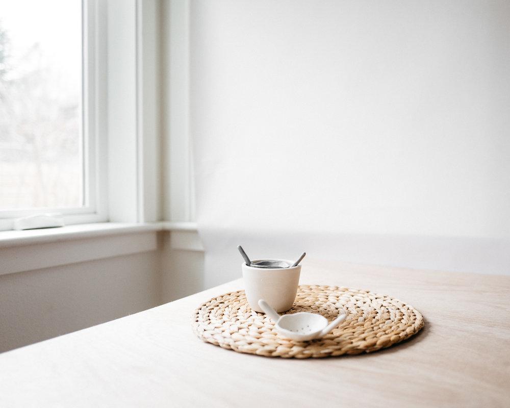 tea strainer and small tea bowl