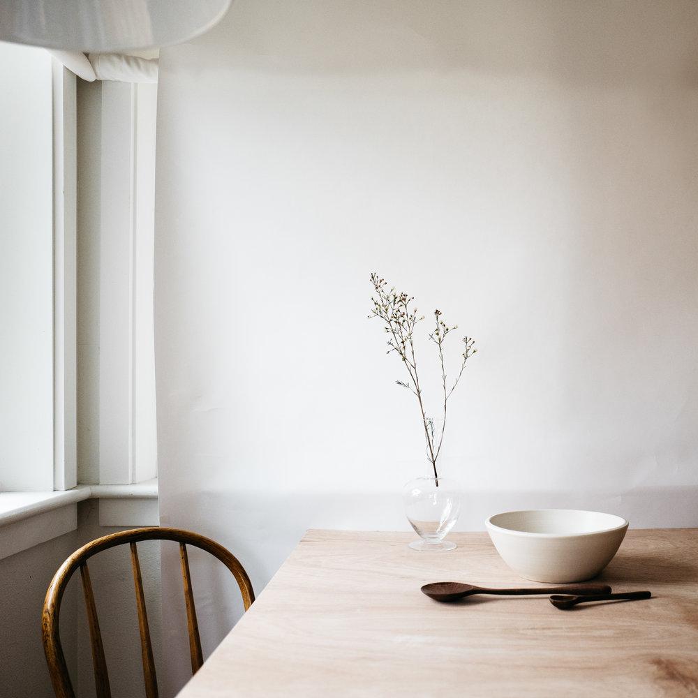 serving bowl - white