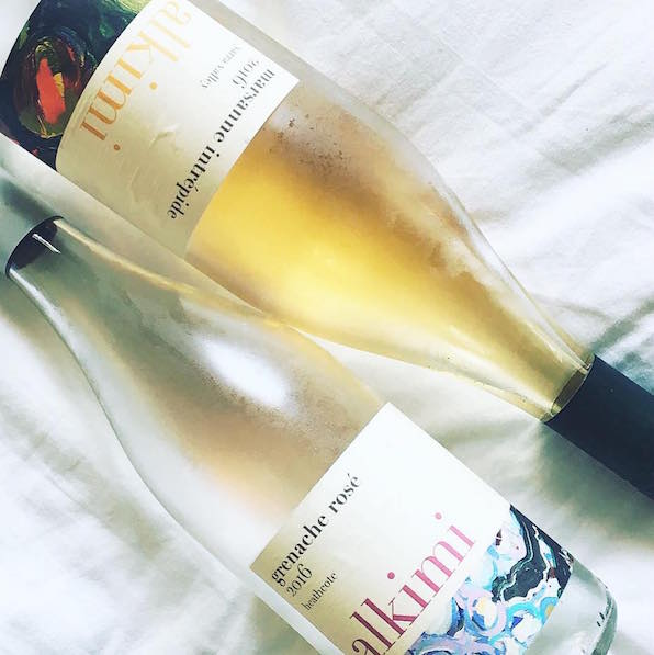 The 2016 Alkimi Marsanne Intrépide and the 2016 Alkimi Grenache Rosé.  Image source:  @seavinobysophie