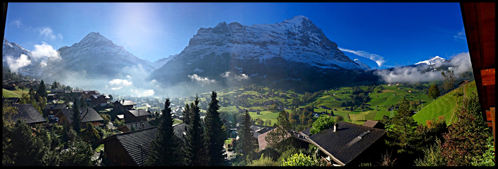October view from the deck of our Altitude 2017 location, Grindelwald, Switzerland