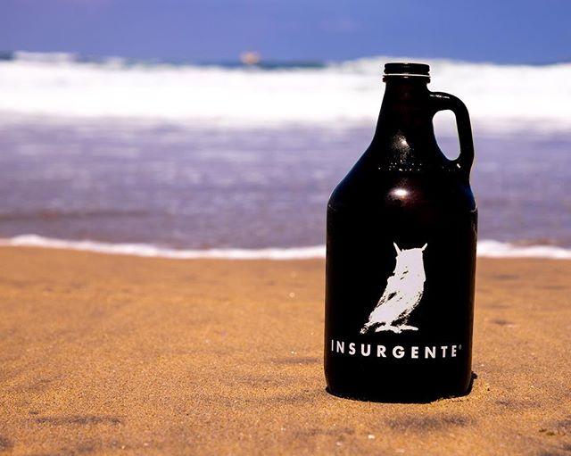 ¡Queremos conservar nuestras playas limpias! Una opción para reducir tu impacto en el medio ambiente es consumir tu Insurgente en Growler. 100% reusable, 100% fresca! #SéInsurgente #TomaArtesanal #CraftBeer #CervezaArtesanal #BajaNorte #Playa #Beach #Waves #Olas #Mar #Sea
