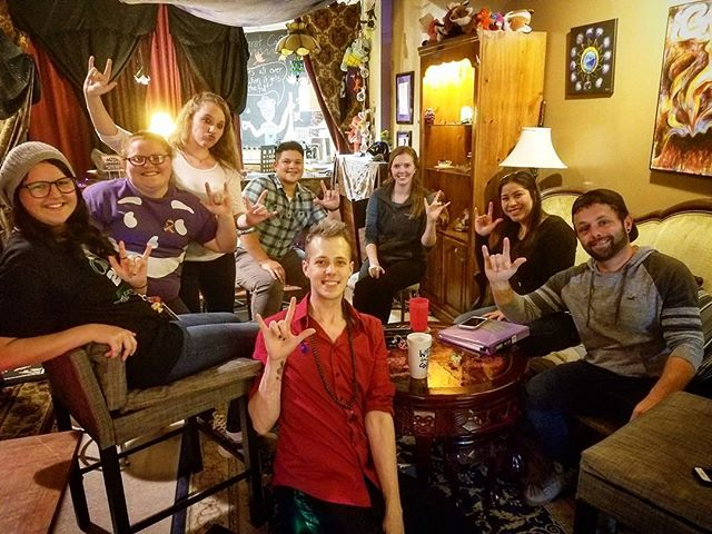 Asl Thursdays went great! Thank you , thank you,  thank you,  for this amazing community. #aslmeetup #asl #thetarotcafe #deafmeetup #deafawareness