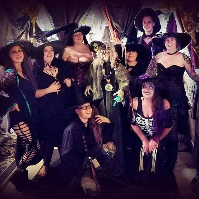 Celebrated Samhain at The Tarot Cafe with these magickal witches.
