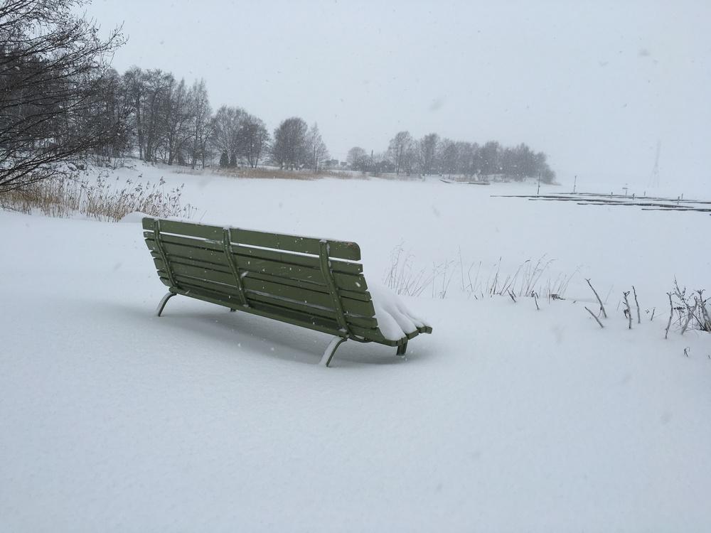 The world's loneliest bench / Helsinki / 12 Jan 2016