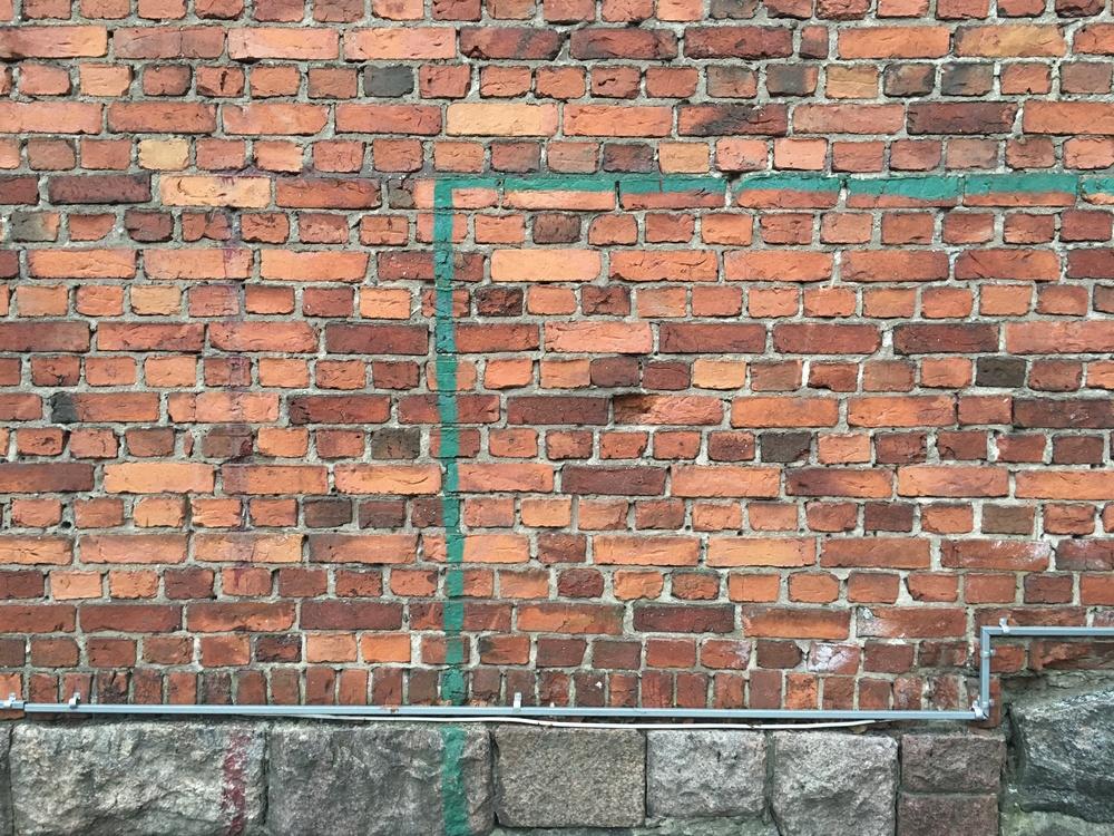 Brick wall at Sibelius lukio / Helsinki / 3 Mar 2016