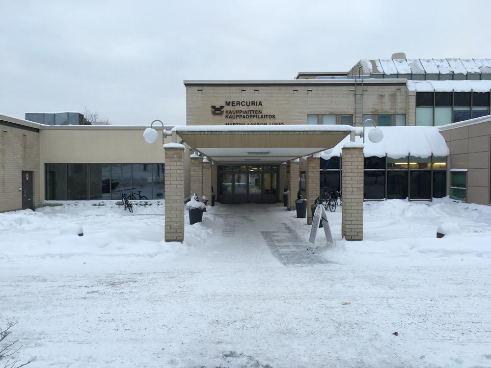 The shared campus of Mercuria Kauppiaitten and Martinlaakson lukio / Vantaa / 19 Jan 2016