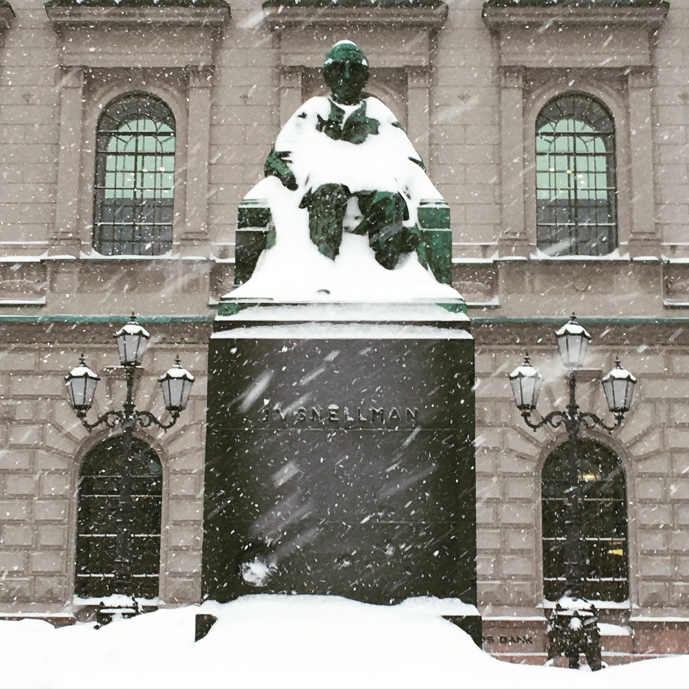Snellman in the snow / Helsinki / 12 Jan 2016