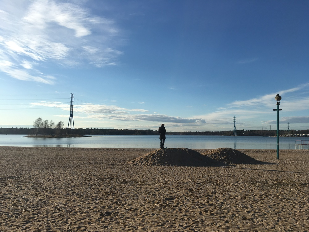 The beach at Hiekkaranta / Helsinki / 11 Apr 2016