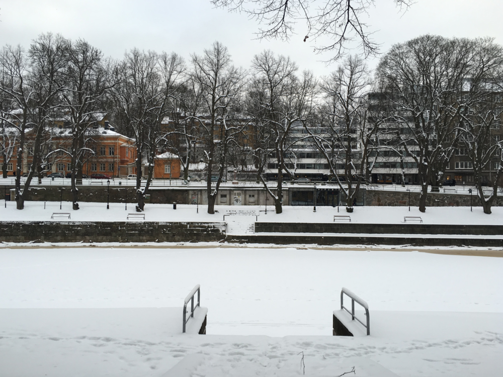 Auranjoki frozen over / Turku / 22 Jan 2016