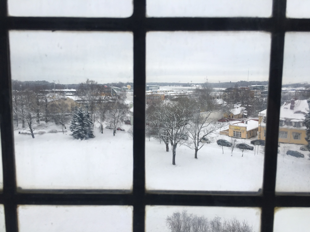 Out the window of the Turku castle / Turku / 22 Jan 2016