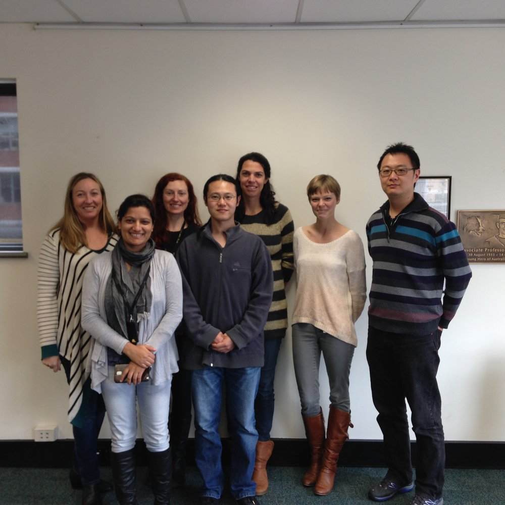 The lab team in 2014.