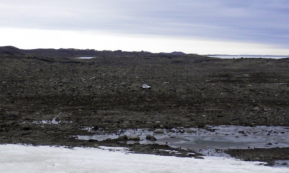 Image:  Adam's Flat - A hyper arid sampling site. Image taken by the Australian Antarctic Division (AAD).