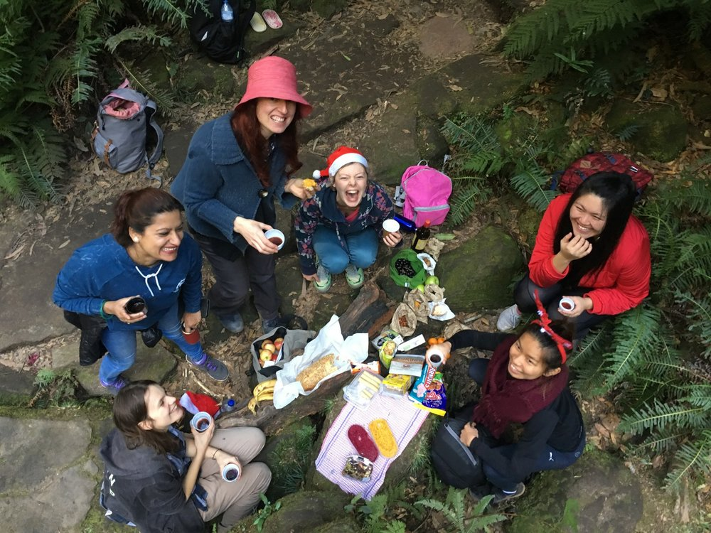 The Ferrari Lab escapes the office for a Christmas in July hike (and picnic!) in the Blue Mountains. Check out the  gallery  for more photos of the festive frivolity. Image taken by Angelique.