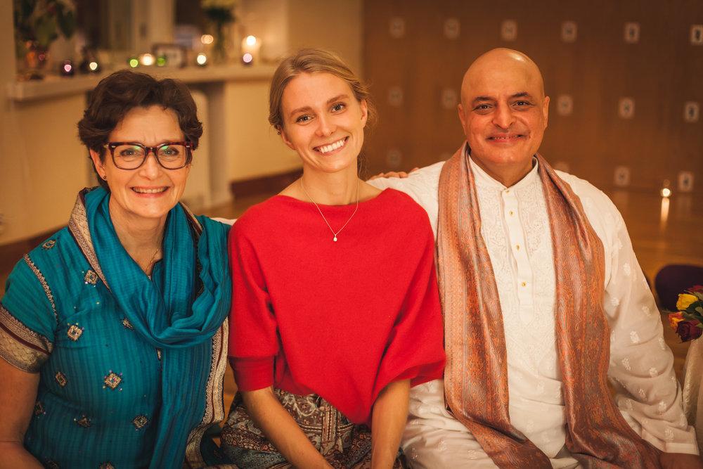Sharing the wisdom of Purna Yoga. - With my dear teachers Tove Palmgren and Aadil Palkhivala.