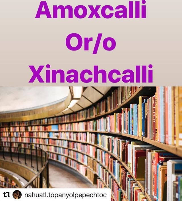 #Repost @nahuatl.topanyolpepechtoc with @get_repost ・・・ There's 2 ways to say this, you can say either or.  Hay dos formas de decir esto, puedes usar uno o el otro.  Amoxcalli (amosh-Cali)  House of books = library  Casa de libros = biblioteca  Xinachcalli (shi-nach-Cali)  House of seeds =library  Casa de semillas=biblioteca  #nahuatl  #topanyolpepechtoc  #tlahtoltapazolli