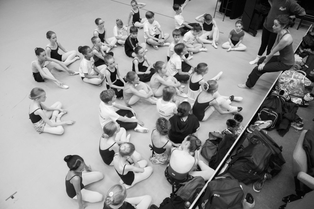 A Frosty Fable rehearsal at National Youth Ballet 2017. Photo: Sean Purser