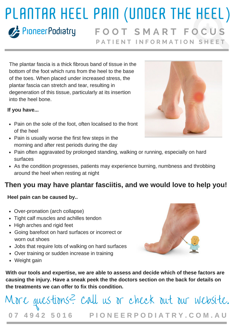 Patient Info Sheet for Plantar Heel Pain