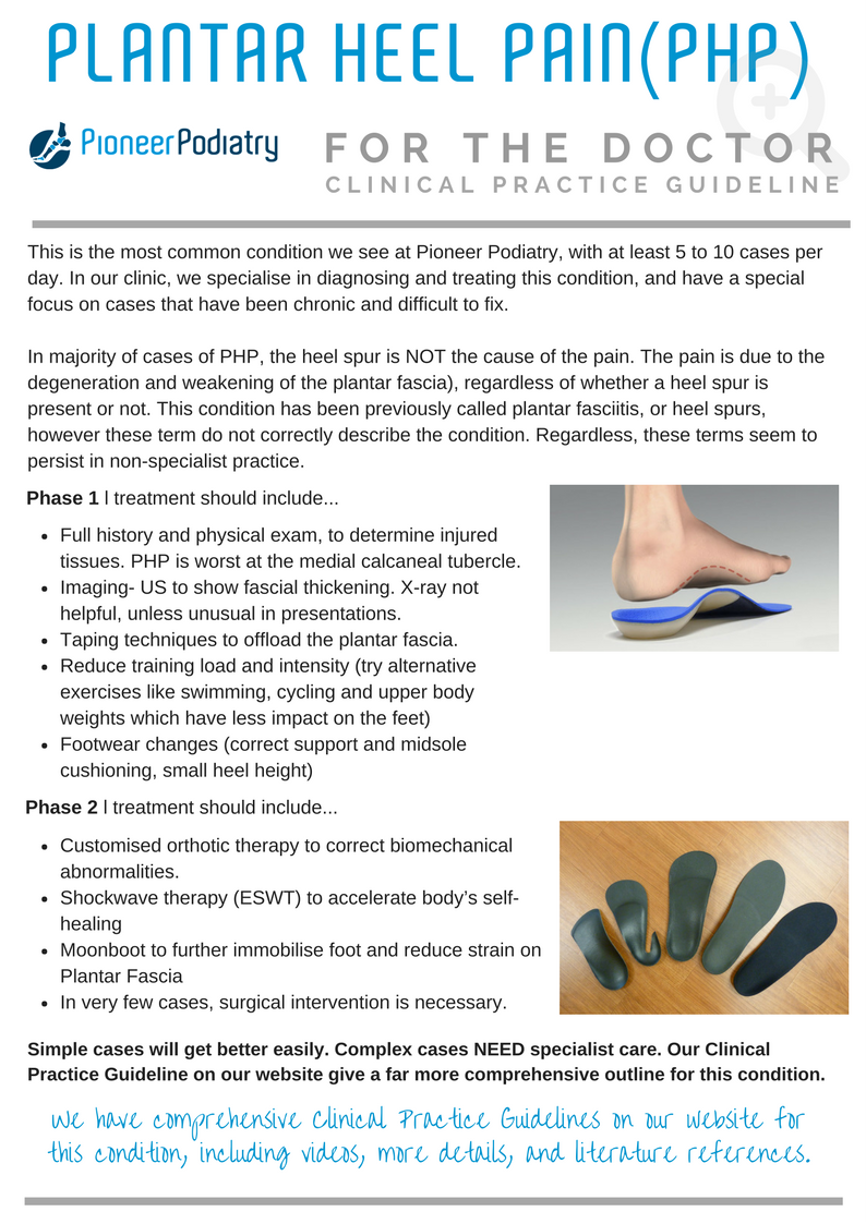 Clinical Practice Guideline for Plantar Heel Pain