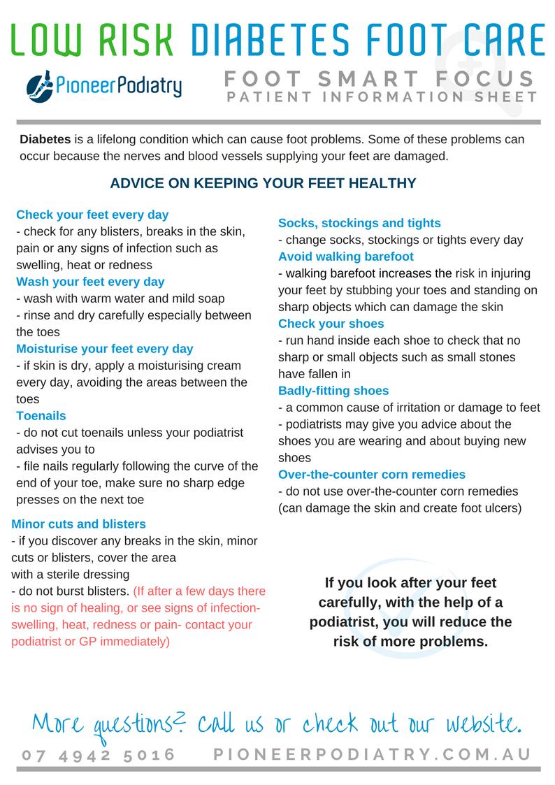 Patient Info Sheet - Low risk