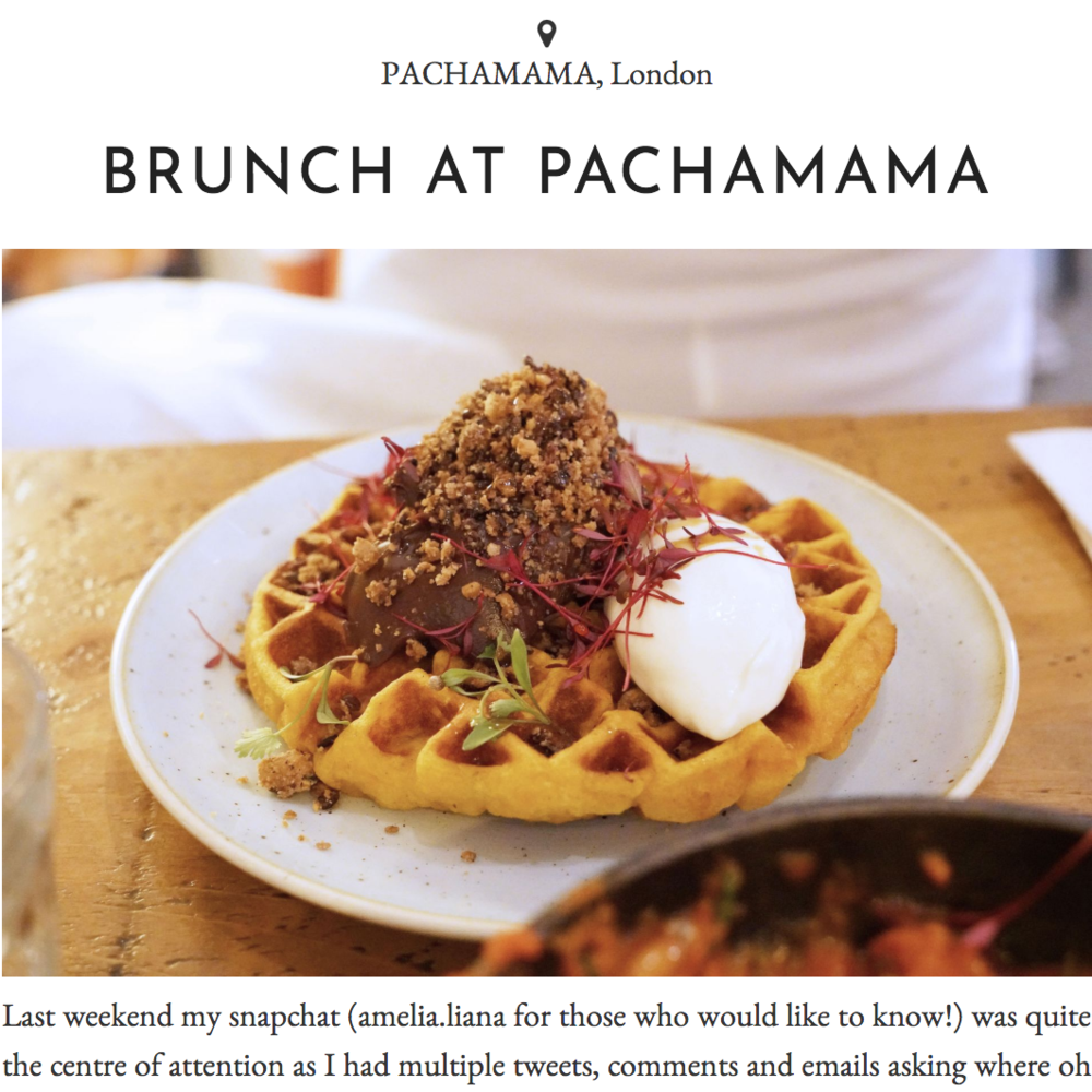 Brunch waffles at Pachamama