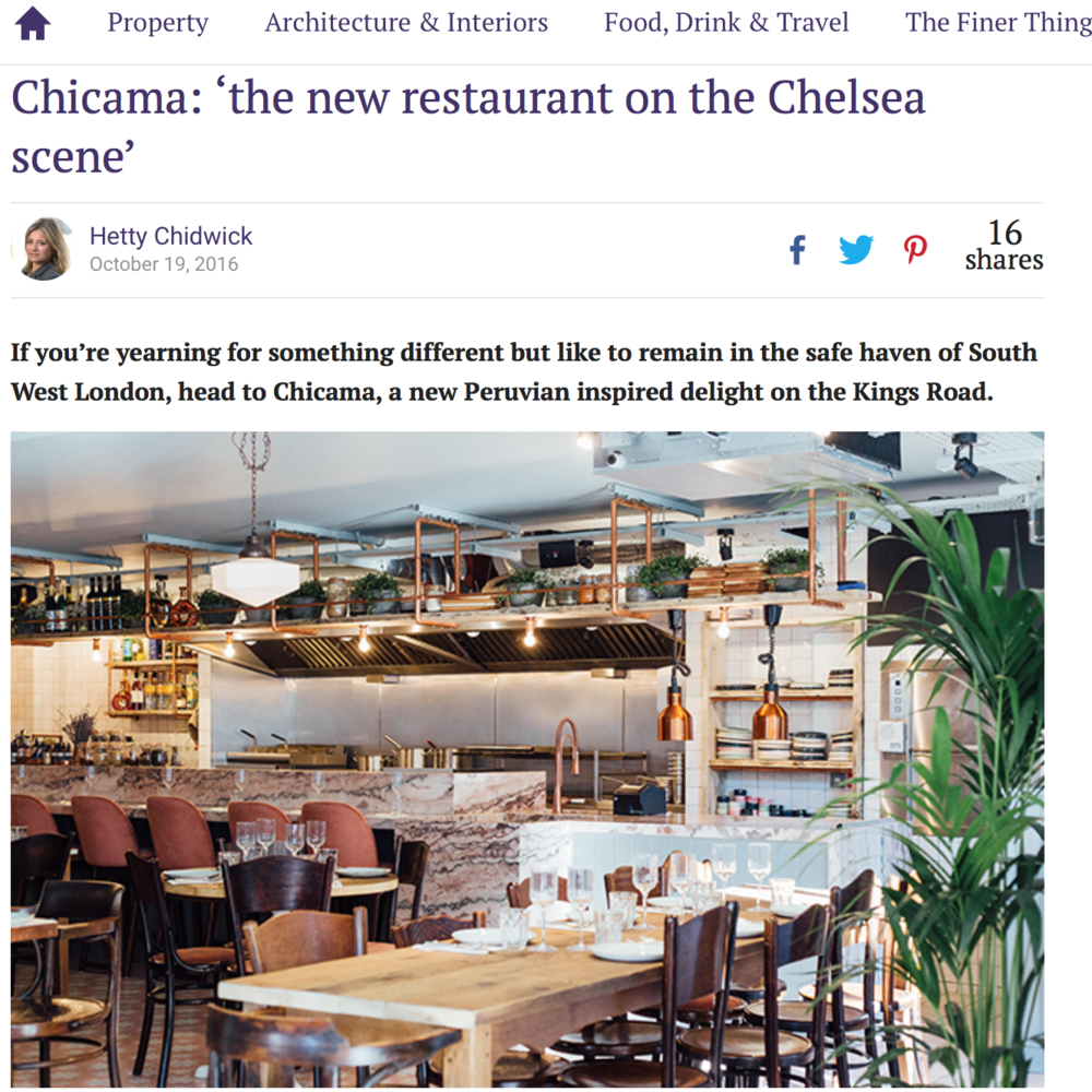 Chicama in www.countrylife.com