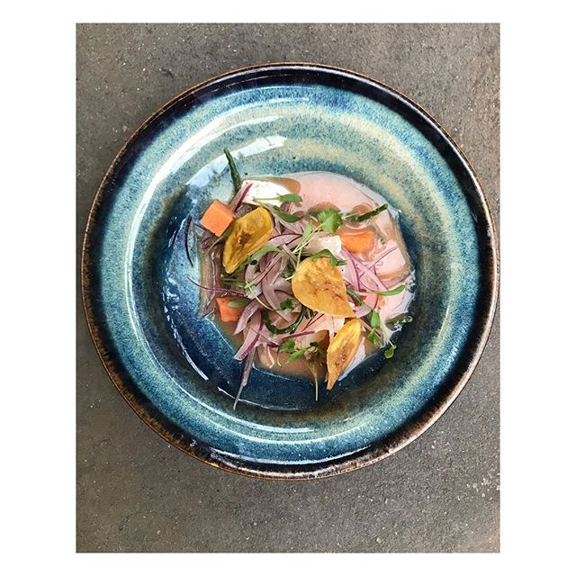 Sea bass ceviche for lunch #yesplease #friday #lunch #pachamamalondon via @yaroslavamalkova