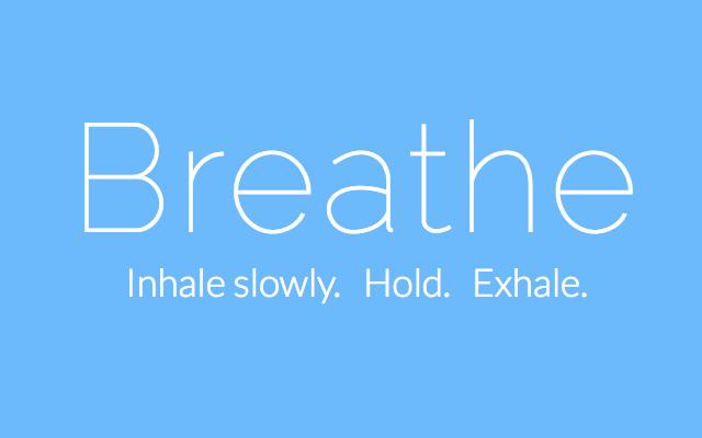 Breathe  >> Breathe In Breathe Out Chamberlain Training