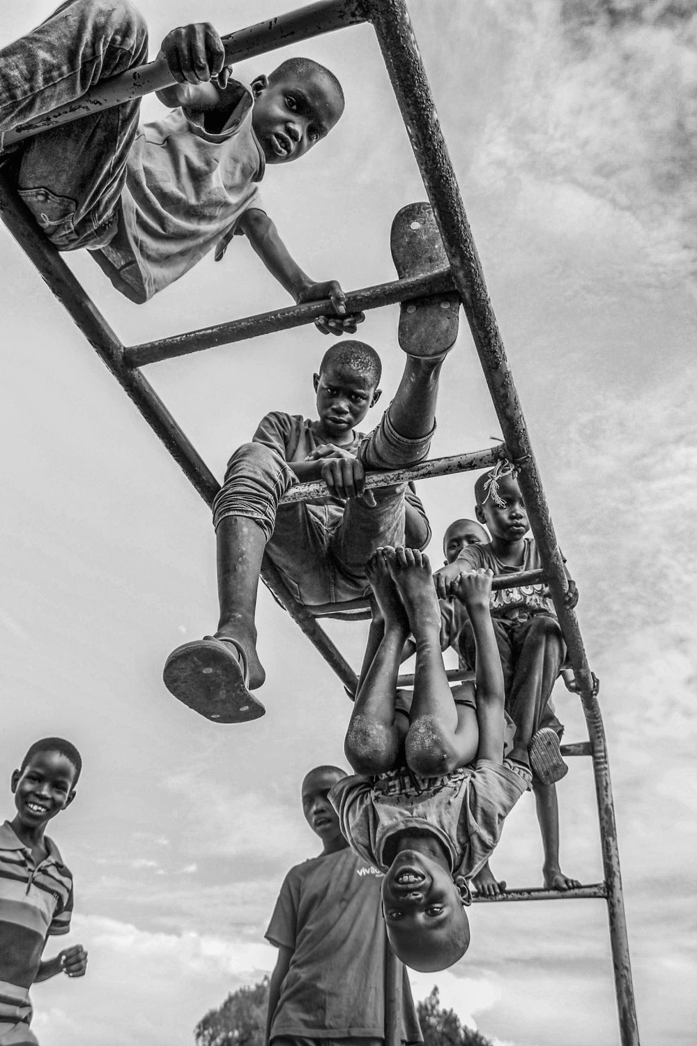 Victims of ethnic war: South Sudan refugees // Black and White series 2016