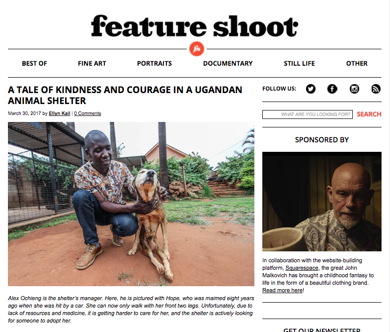 Uganda's only animal shelter // Feature Shoot March 2017