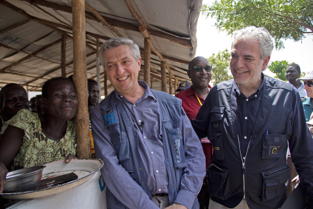 EU COMMISSION June 2017// EU Commissioner visits South Sudanese refugee camps ahead of Solidarity Summit