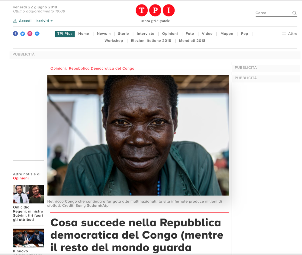 Things are happening in Democratic Republic of Congo while the rest of the world looks away // TPI // 06.2018