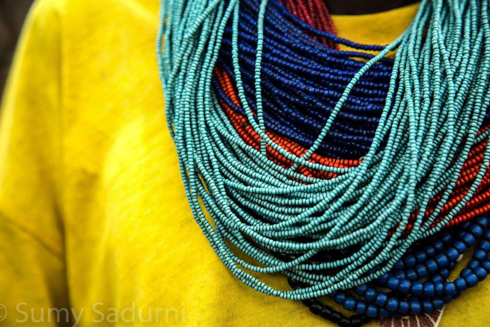 Print 9: Traditional beaded necklaces from Karamoja, in northern Uganda.