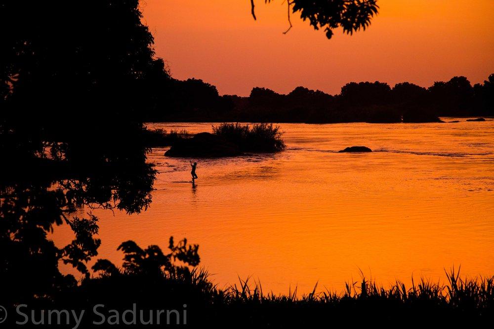 Print 15: Sunset on the Nile River, Juba, South Sudan.
