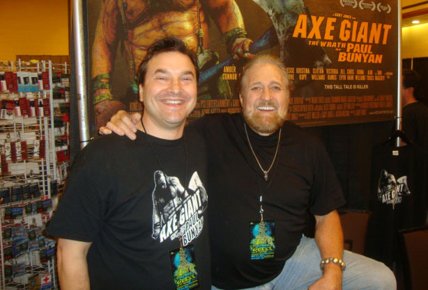 Jeff Miller (left) with actor Dan Haggerty (TV's Grizzly Adams) at the Texas Frightmare Weekend Convention